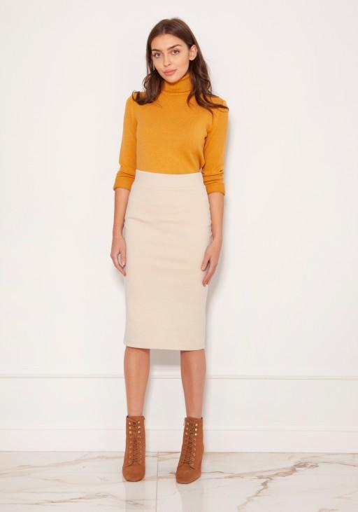 Punto knit pencil skirt SP128 beige