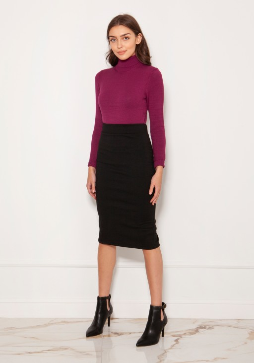Punto knit pencil skirt SP128 black