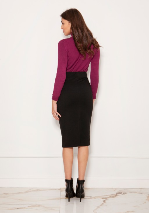 Punto knit pencil skirt SP128 black