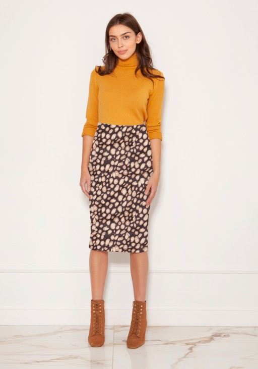 Punto knit pencil skirt SP128 panther