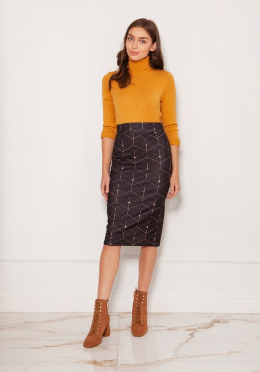 Punto knit pencil skirt SP128 pattern