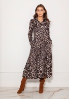 Long, shirt dress with studs SUK190 panther