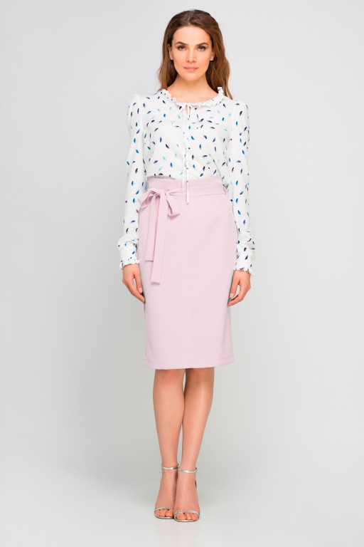 Pencil skirt with sash, SP115 pink