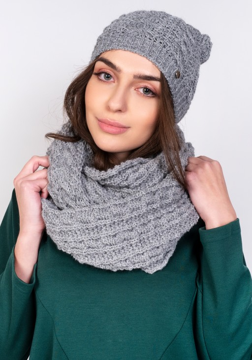 Stylish beanie - grey