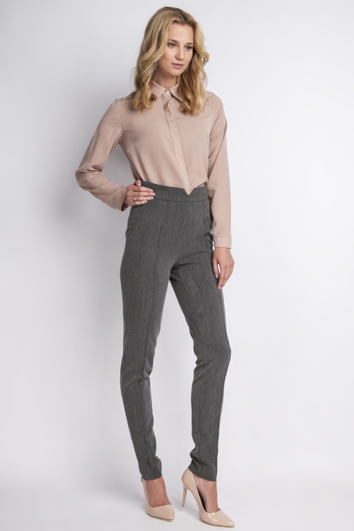 Trousers with high-waisted, SD112 graphite