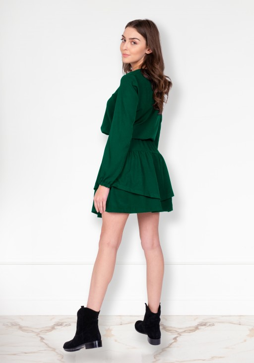 Frill dress, SUK175 green