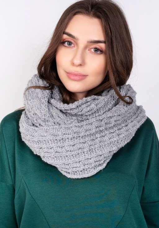 Stylish tube scarf - grey