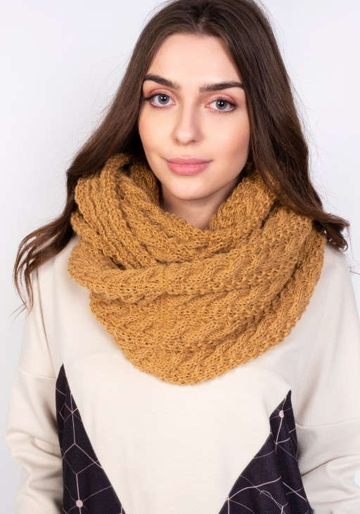 Stylish tube scarf - SZ004 mustard