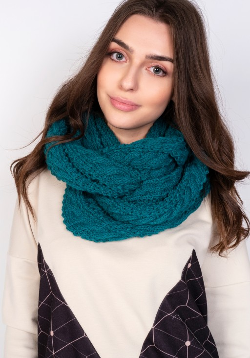 Stylish tube scarf - SZ003 emerald green