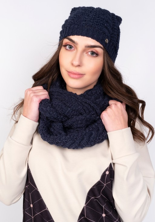 Stylish tube scarf - SZ003 navy