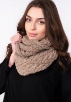 Stylish tube scarf - SZ004 mocca