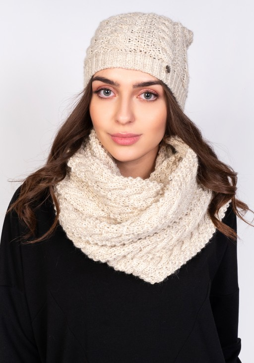Stylish tube scarf - SZ004 beige