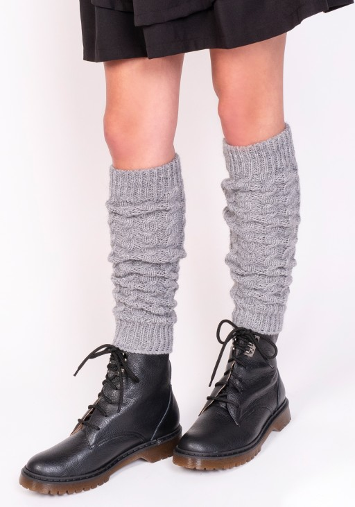2 in 1 Braided gaiters or sleeves - grey