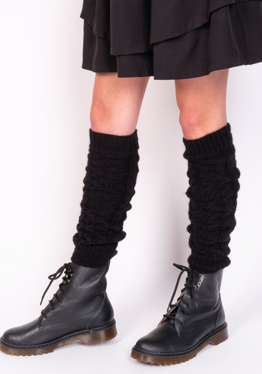 2 in 1 Braided gaiters or sleeves - black