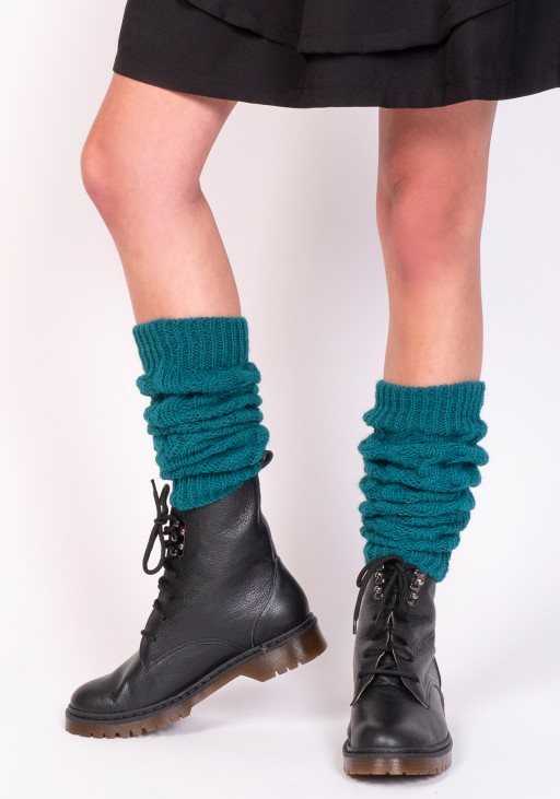2 in 1 Braided gaiters or sleeves - emerald green