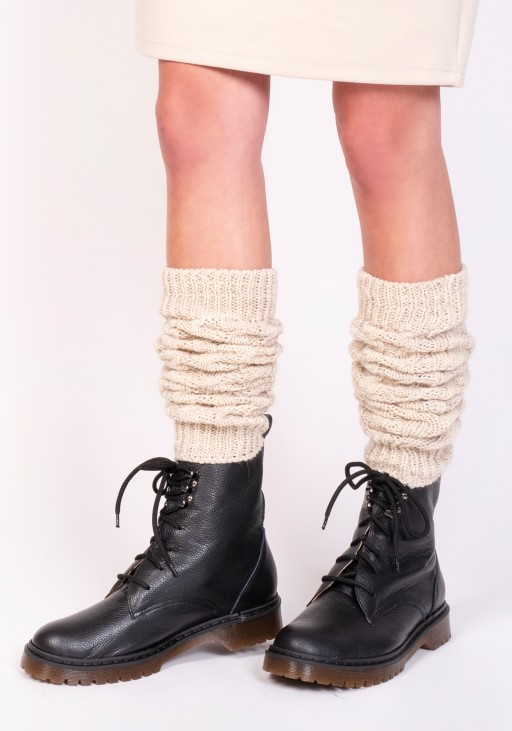 2 in 1 Braided gaiters or sleeves - beige