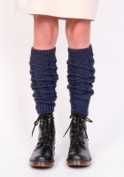 2 in 1 Braided gaiters or sleeves - navy blue
