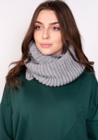 Warm tube scarf - grey