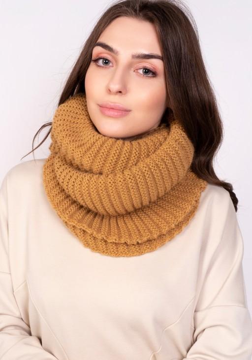 Warm tube scarf - mustard