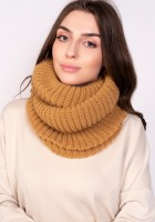Warm tube scarf - mustard
