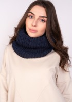 Warm tube scarf - navy blue