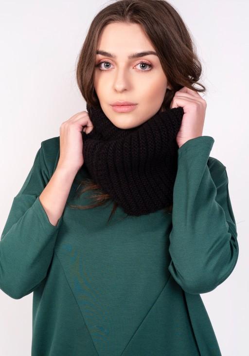 Warm tube scarf - black