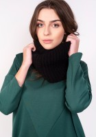 Warm tube scarf - black