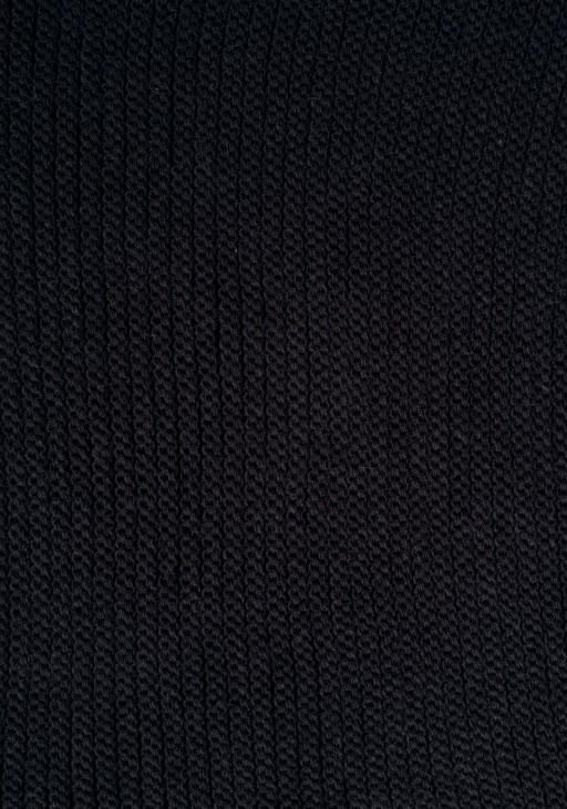 Ciepły, prążkowany komin - czarny, SZ004