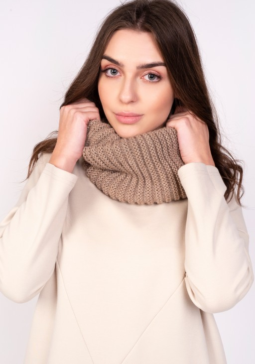 Warm tube scarf - mocca