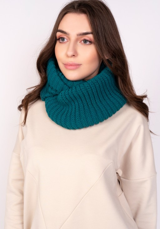 Warm tube scarf - emerald green