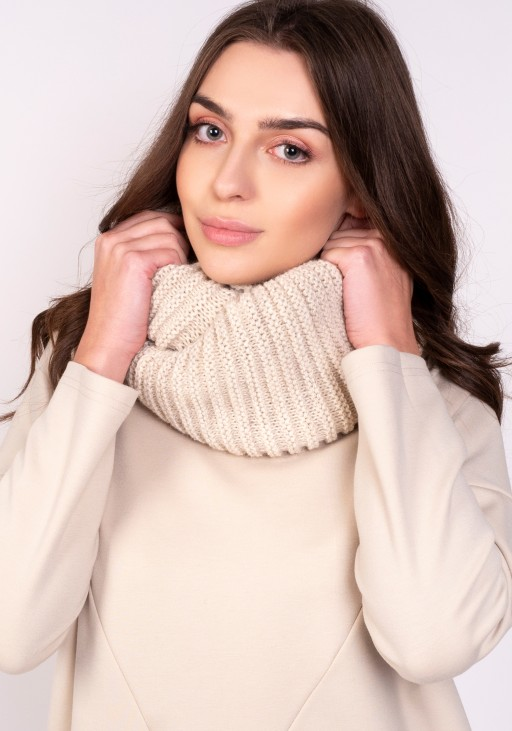 Warm tube scarf - beige