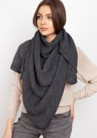 Impressive knitted scarf - graphite