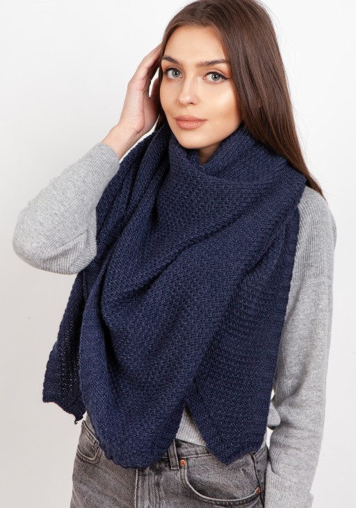 Impressive knitted scarf - navy