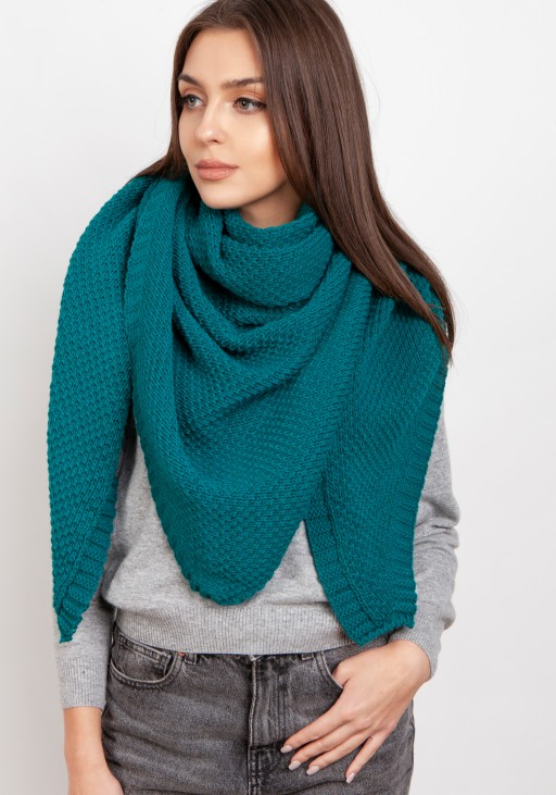 Impressive knitted scarf - green