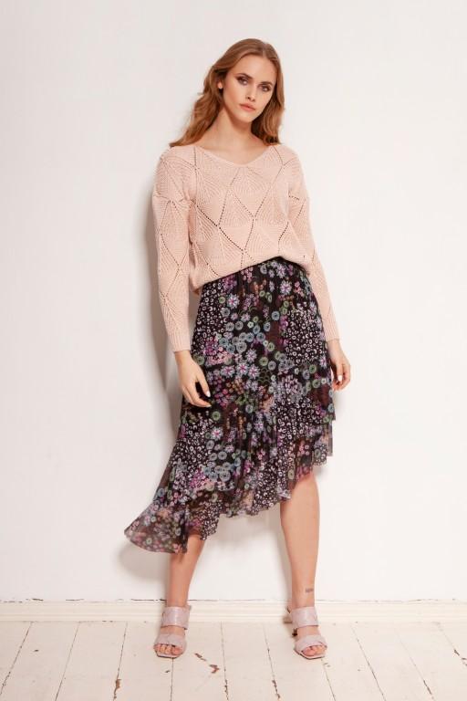 Mesh ruffle skirt, SP130 pattern