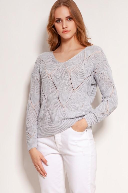 Openwork sweater, SWE144 grey