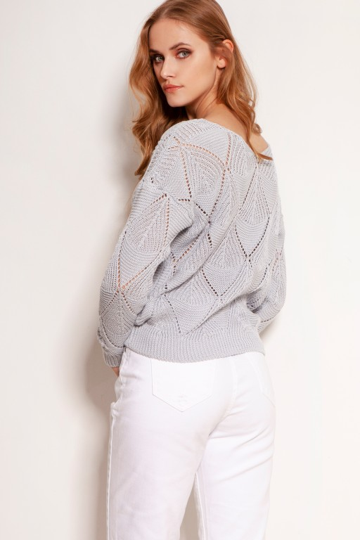 Openwork sweater, SWE144 grey
