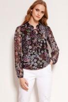Mesh fabric blouse, BLU150 pattern