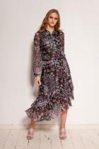 Patterned dress in mesh fabric, SUK193 pattern