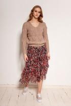Mesh ruffle skirt, SP130 red
