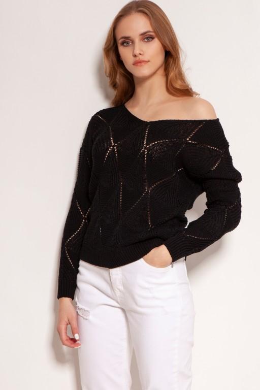 Openwork sweater, SWE144 black