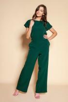 Elegant jumpsuit with open back, KB121 green