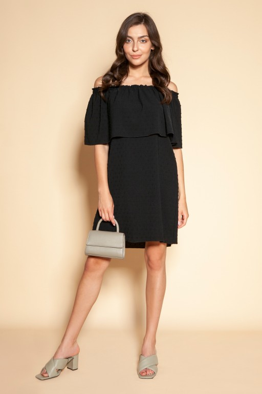 Krótka sukienka hiszpanka, SUK201 czarny