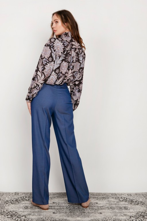 Wide trousers with a flat front, SD124 jeans