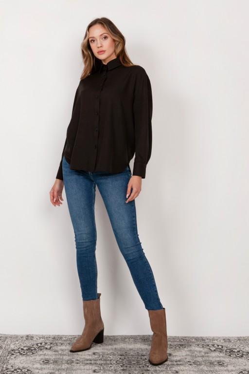 Shirt with a loose cut, K116 black