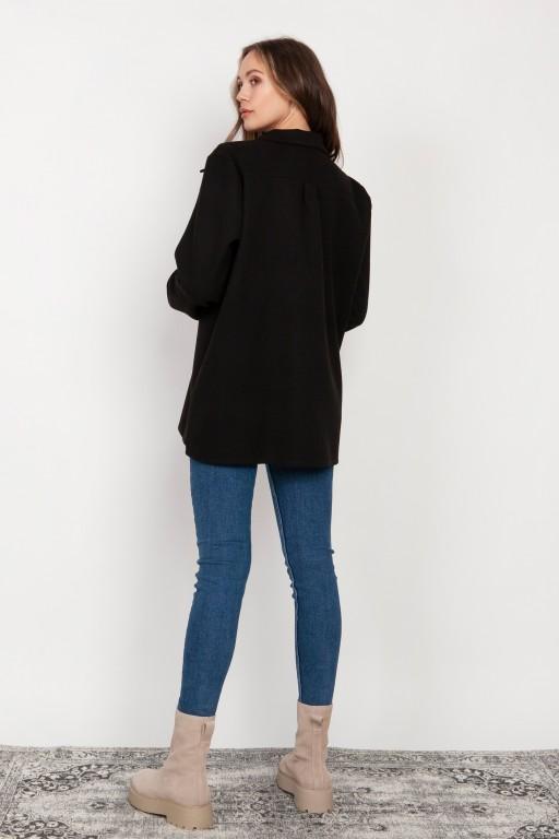 Fleece shirt jacket, K115 black