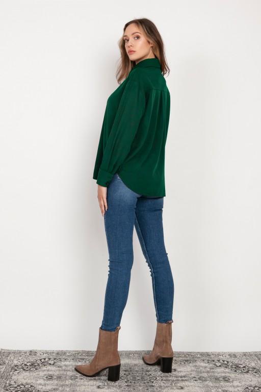 Koszula o swobodnym kroju, K116 zielony