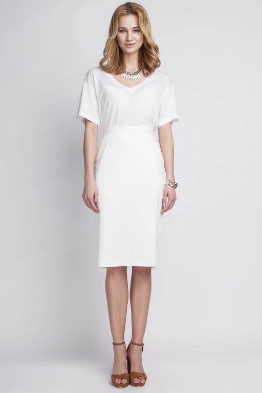 Skirt high-waisted, SP111 ecru