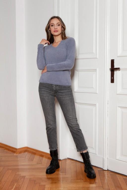Soft, hairy sweater, SWE147 grey