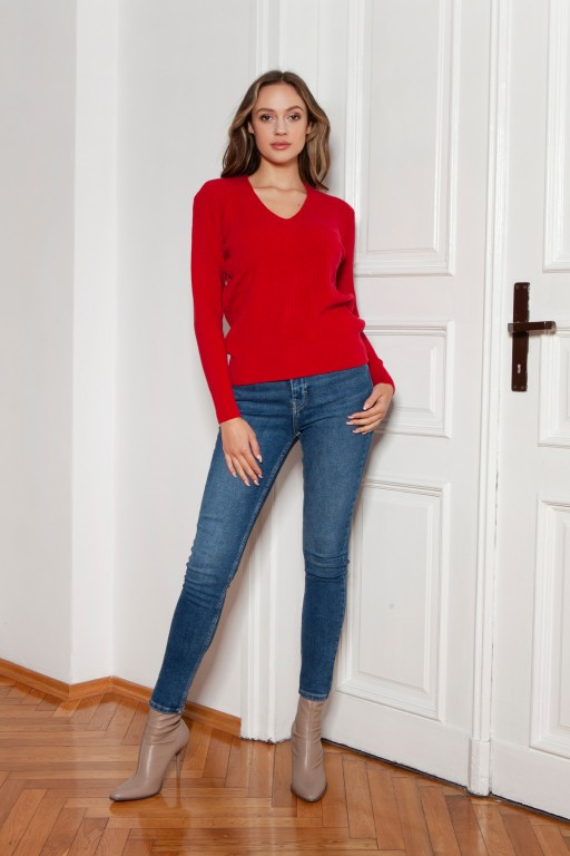 Ribbed sweater, SWE146 red